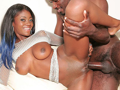 Beautiful black Lady Armani gets her face creamed after a hard fuck